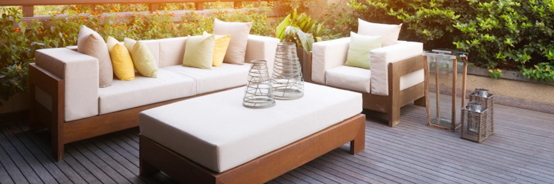 Wooden patio in summer - patio ideas
